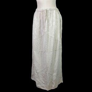 NWT Sacred Threads Cream Patch Maxi Skirt